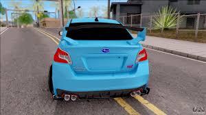 subaru car back subaru wrx sti 2017 tuning for gta san andreas