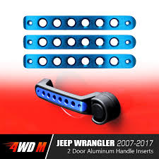 blue jeep 2 door front rear aluminum grab handle cover trim for 2 u00264 door jeep