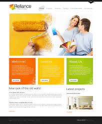 website design 42932 reliance painting palette custom website