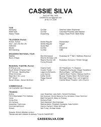 Resume Star Cassie Silva Performance Resume