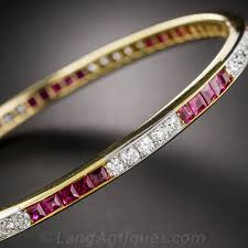 bangle bracelet diamond images Edwardian ruby and diamond bangle bracelet jpg