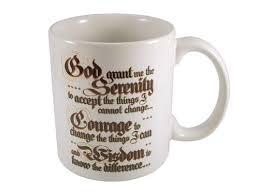serenity prayer mug recovery gifts serenity prayer coffee mugs at woodenurecover