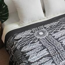 plaid gris pour canapé indien motif moderne géométrique é plaid nordique américain style