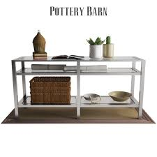 Pottery Barn Tanner Coffee Table by Pottery Barn Tanner Long Console Table Polished Nickel Finish By