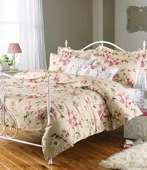aura rose pink luxury floral chic cotton duvet cover bedding uk
