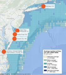 Map Of Wildwood Nj Commercial And Recreational Fishing Mid Atlantic Regional Ocean
