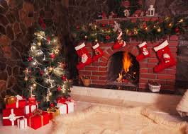 christmas backdrops christmas backdrop tree fireplace room by bestbackdropcenter