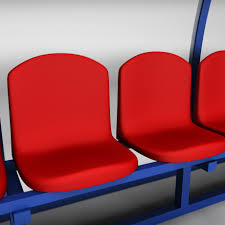 stadium seating reserve bench low 3d model cgstudio