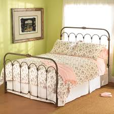 iron queen bed frame design antique iron queen bed frame