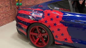 Us Flag Decal 2015 2017 Mustang Side Decal Kit Tattered American Flag Youtube