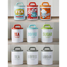 retro kitchen canisters set ceramic vintage retro kitchen canister sets ebay