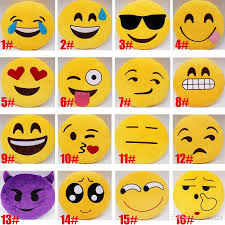 Couch Emoji by 17 Style Soft Emoji Cute Pillows Lovely Smiley Emoticon Yellow