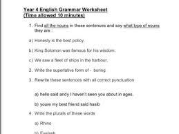 year 4 spag worksheet sats practice by manju03 teaching