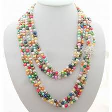 pearl rhinestone necklace images Multi color pearl rhinestone necklace jpg