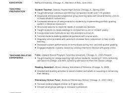 exle of teaching resume literarywondrous math tutor resume exles free