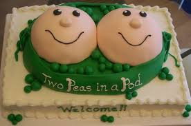 find some references for baby shower cakes recipe for twins baby