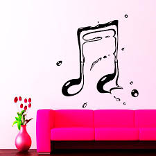 musical notes tagged simple style music notes art designed wall