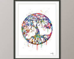 tree of life home decor tree of life poster etsy