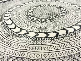 Round Persian Rug by Round Black And White Rug Best Rug 2017