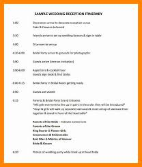 Wedding Itinerary Template For Guests 14 Day Itinerary Template Resume Sections