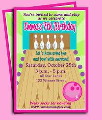 bowling birthday invitations afoodaffair me