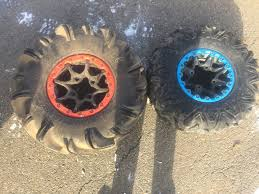 xmr trail tires on stock wheels page 3 can am atv forum
