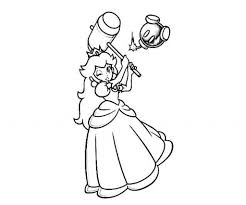princess peach coloring page for aspiration cool coloring pages