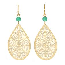gold drop earrings nauticalwheeler turquoise gold drop earrings