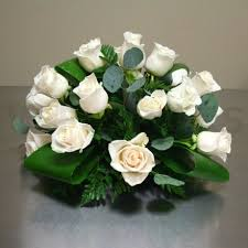 White Roses Centerpieces by Roses W Flowers Ottawa