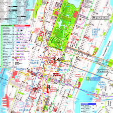 Subway Map Manhattan Manhattan Streets And Avenues Must See Places New York Top Tourist