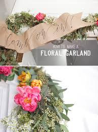 floral garland floral garland welcome banner diy