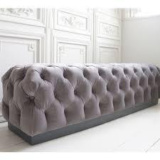 Velvet Chesterfield Sofa Uk by Velvet Chesterfield Bench Bedroom Bench