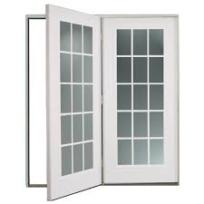 Patio Bricks At Lowes by Shop Reliabilt 6 U0027 Reliabilt Center Hinged Patio Door Steel 15