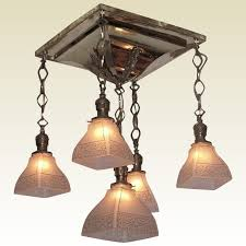 Arts Crafts Lighting Fixtures 1904 Antique Shower Arts Crafts Lighting Fixture Original