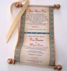 scroll wedding invitations scroll wedding invitations with castle theme artful