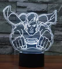 coolest lamps superhero 3d illusion lamps are the coolest room accessory right