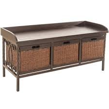 barga bench with rattan drawers hobby lobby 562900