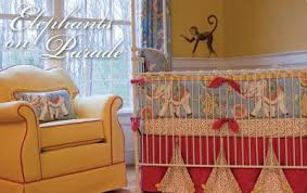 Circus Crib Bedding And Yellow Vintage Circus Elephant Baby Nursery Theme When I