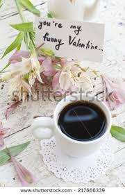 Good Vase Coffee Mug White Flowers Notes Good Stock Photo 471870488