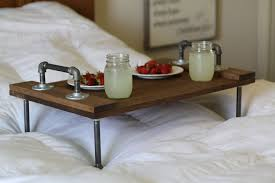 bedding exciting breakfast bed tray with reading rack painted