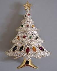best offer signed swarovski swan tree wreath pin brooch