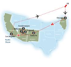 Hop On Hop Off Los Angeles Route Map by Grand Canyon Discovery With Los Angeles Amtrak Vacations