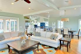 rowe furniture in living room beach style with sea salt paint next
