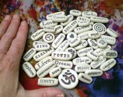 Memorial Service Favors Raku Beads Clay Message Stones Stoneware By Spinningstarstudio