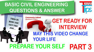 interview questions answer for civil engineer basic tips for