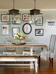 Dining Room Wall Paint Blue 30 Unassumingly Chic Farmhouse Style Dining Room Ideas