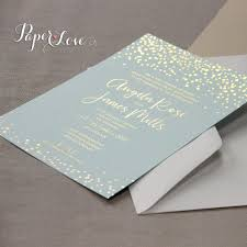 wedding invitations gold foil awesome gold foil confetti wedding invitation mint paper