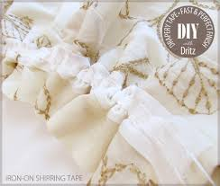 Sewing Drapery Panels Together Drapery Tapes From Dritz The Fastest Way To Finish Curtains