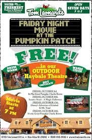 free outdoor movies at tom leonard u0027s pumpkin patch richmond bargains