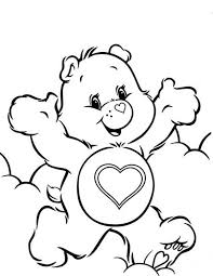 happy care bears colouring happy colouring